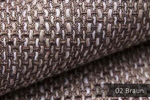 novely® LANZ Möbelstoff | Strukturstoff | Farbe 02 Hellbraun