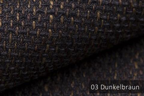 novely® LANZ Möbelstoff | Strukturstoff | Farbe 03 Dunkelbraun