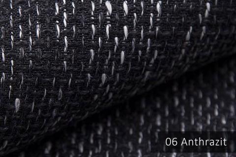 novely® LANZ Möbelstoff | Strukturstoff | Farbe 06 Anthrazit