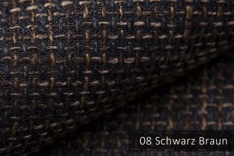 novely® LANZ Möbelstoff | Strukturstoff | Farbe 08 Schwarz Braun