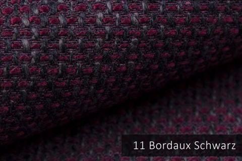 novely® LANZ Möbelstoff | Strukturstoff | Farbe 11 Bordeaux Schwarz
