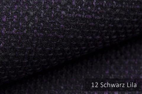 novely® LANZ Möbelstoff | Strukturstoff | Farbe 12 Schwarz Lila