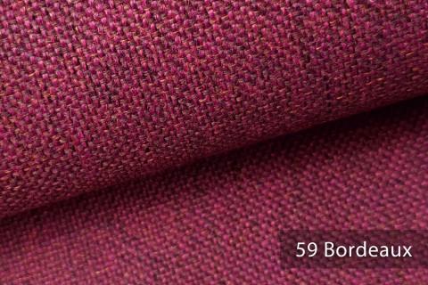 novely® LARISO | Polsterstoff | Möbelstoff | Webstoff | Struktur-Stoff | Mélange | natürlicher Look in 20 Farben | 59 Bordeaux