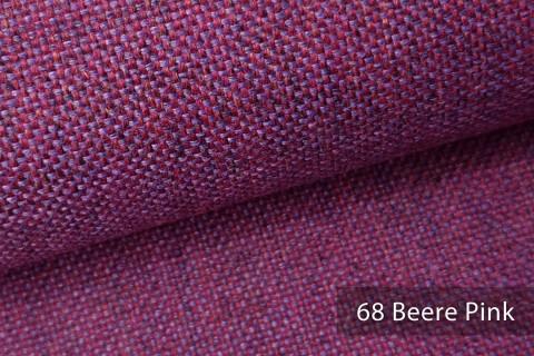 novely® LARISO | Polsterstoff | Möbelstoff | Webstoff | Struktur-Stoff | Mélange | natürlicher Look in 20 Farben | 68 Beere Pink