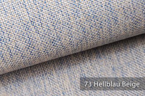 novely® LARISO | Polsterstoff | Möbelstoff | Webstoff | Struktur-Stoff | Mélange | natürlicher Look in 20 Farben | 73 Beige Hellblau
