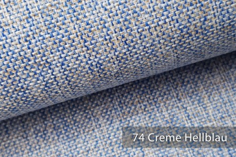 novely® LARISO | Polsterstoff | Möbelstoff | Webstoff | Struktur-Stoff | Mélange | natürlicher Look in 20 Farben | 74 Hellblau Beige