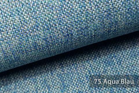 novely® LARISO | Polsterstoff | Möbelstoff | Webstoff | Struktur-Stoff | Mélange | natürlicher Look in 20 Farben | 75 Aqua Blau