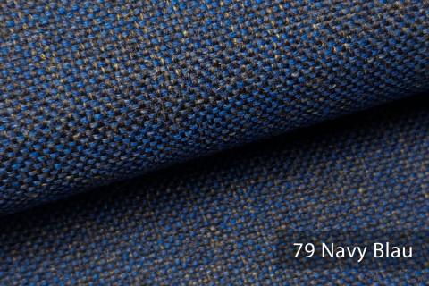 novely® LARISO | Polsterstoff | Möbelstoff | Webstoff | Struktur-Stoff | Mélange | natürlicher Look in 20 Farben | 79 Navy Blau
