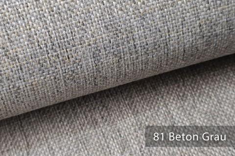 novely® LARISO | Polsterstoff | Möbelstoff | Webstoff | Struktur-Stoff | Mélange | natürlicher Look in 20 Farben | 81 Beton Grau
