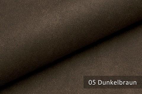 novely® LATHEN Veloursleder Wildleder-Optik 12 Farben Rückseitenvlies Möbelstoff | Farbe 05 Dunkelbraun