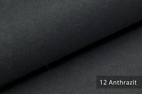 novely® LATHEN Veloursleder Wildleder-Optik 12 Farben Rückseitenvlies Möbelstoff | Farbe 12 Anthrazit