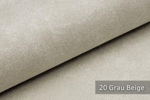 novely® LATHEN Veloursleder Wildleder-Optik 12 Farben Rückseitenvlies Möbelstoff | Farbe 20 Grau Beige
