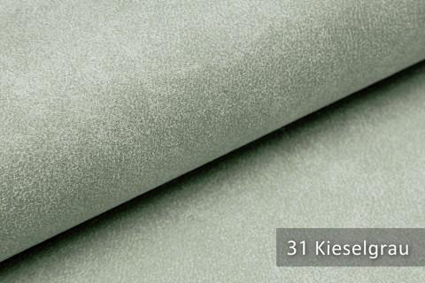 novely® LATHEN Veloursleder Wildleder-Optik 12 Farben Rückseitenvlies Möbelstoff | Farbe 31 Kieselgrau