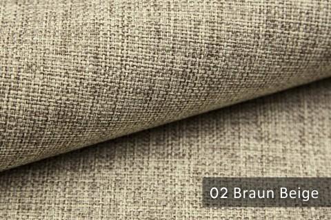 novely® LEHR leicht grob gewebter Polsterstoff meliert Möbelstoff | 02 Braun Beige
