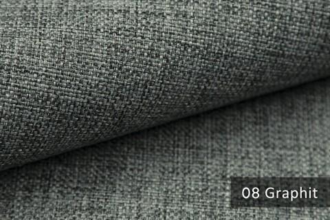 novely® LEHR leicht grob gewebter Polsterstoff meliert Möbelstoff | 08 Graphit