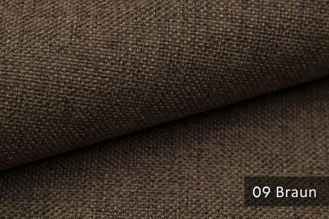 novely® LEHR leicht grob gewebter Polsterstoff meliert Möbelstoff | 09 Braun
