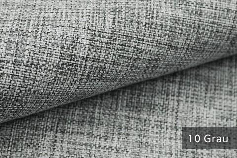 novely® LEHR leicht grob gewebter Polsterstoff meliert Möbelstoff | 10 Grau