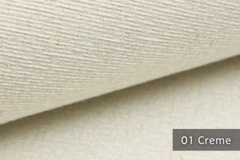 novely® exquisit LIVERI - extravaganter Polsterstoff mit Handwebcharakter, schwer entflammbar | 01 Creme