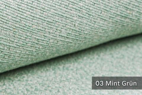 novely® exquisit LIVERI - extravaganter Polsterstoff mit Handwebcharakter, schwer entflammbar | 03 Mint Grün