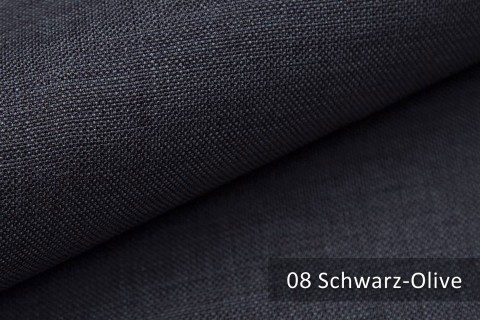 novely® LUSO Webstoff | Polsterbezugsstoff | Farbe 08 Schwarz Olive