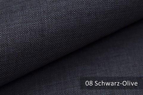 novely® LUSO Webstoff | Polsterbezugsstoff | Farbe 08 Schwarz Olive