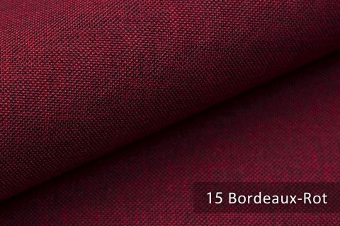 novely® LUSO Webstoff | Polsterbezugsstoff | Farbe 15 Bordeaux Rot
