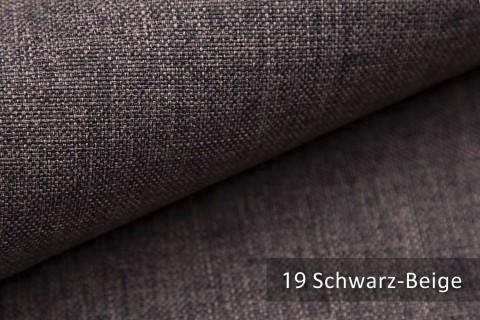 novely® LUSO Webstoff | Polsterbezugsstoff | Farbe 19 Schwarz Beige