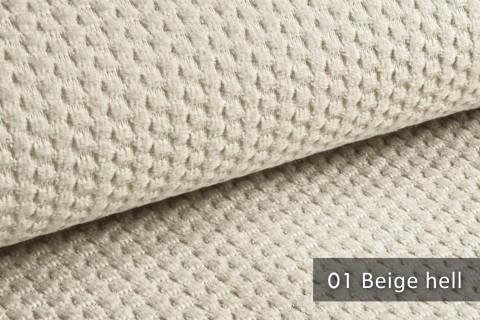 novely® MAKAO – moderner und kuscheliger Möbelstoff mit Wabenmuster, ultraweich | 01 Beige Hell