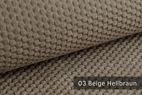 novely® MAKAO – moderner und kuscheliger Möbelstoff mit Wabenmuster, ultraweich   03 Beige Hellbraun