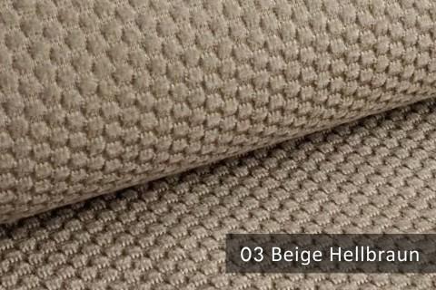 novely® MAKAO – moderner und kuscheliger Möbelstoff mit Wabenmuster, ultraweich | 03 Beige Hellbraun
