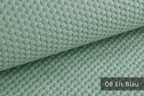 novely® MAKAO – moderner und kuscheliger Möbelstoff mit Wabenmuster, ultraweich | 08 Eis Blau