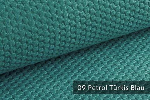 novely® MAKAO – moderner und kuscheliger Möbelstoff mit Wabenmuster, ultraweich | 09 Petrol Türkis Blau
