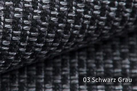 novely® MALBORN – Exklusiver, grob gewebter Möbelstoff | 03 Schwarz Grau