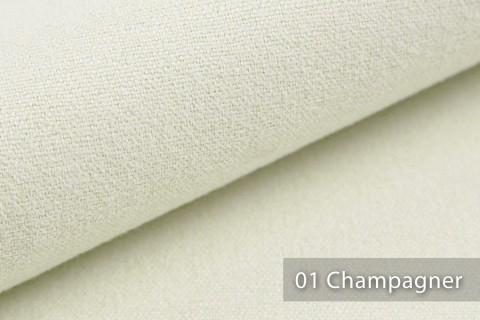 novely® MALCHIN | flauschiger Polsterstoff im Leinenlook | Farbe 01 Champagner