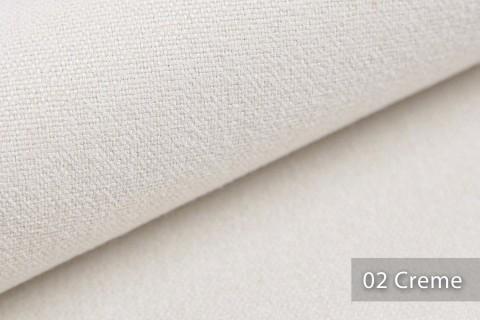 novely® MALCHIN | flauschiger Polsterstoff im Leinenlook | Farbe 02 Creme