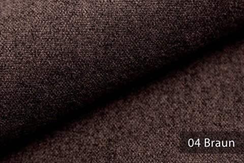 novely® MALCHIN | flauschiger Polsterstoff im Leinenlook | Farbe 04 Braun