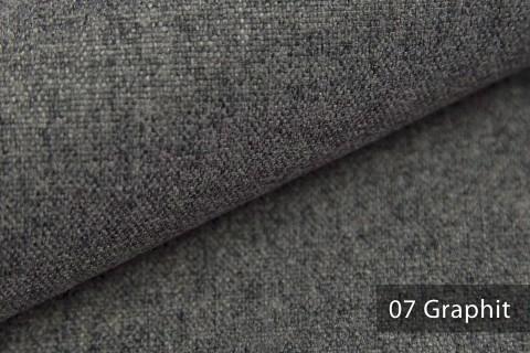 novely® MALCHIN | flauschiger Polsterstoff im Leinenlook | Farbe 07 Graphit
