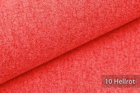 novely® MALCHIN | flauschiger Polsterstoff im Leinenlook | Farbe 10 Hellrot