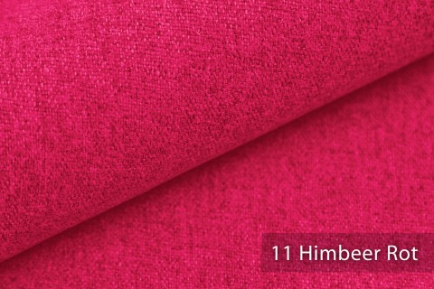 novely® MALCHIN | flauschiger Polsterstoff im Leinenlook | Farbe 11 Himbeer Rot