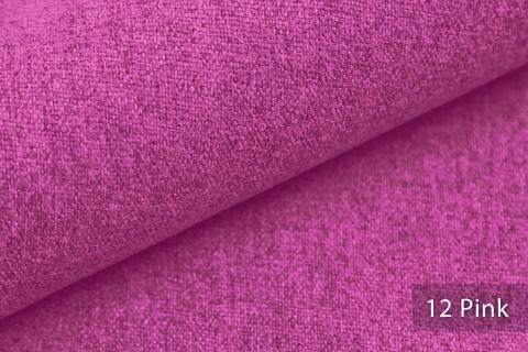novely® MALCHIN | flauschiger Polsterstoff im Leinenlook | Farbe 12 Pink