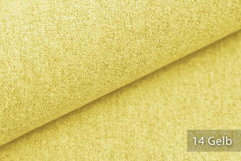 novely® MALCHIN | flauschiger Polsterstoff im Leinenlook | Farbe 14 Gelb
