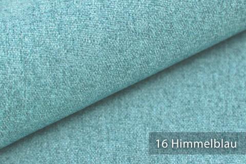 novely® MALCHIN | flauschiger Polsterstoff im Leinenlook | Farbe 16 Himmelblau