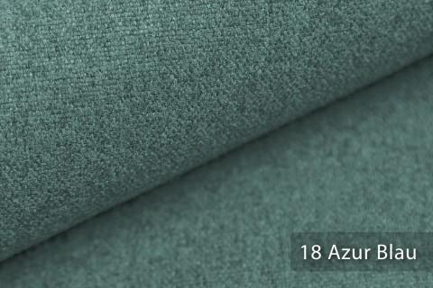 novely® MALCHIN | flauschiger Polsterstoff im Leinenlook | Farbe 18 Azur Blau