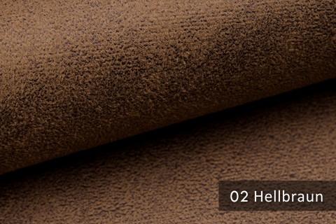 novely® MALOU Möbelstoff, samtweicher Velours in Vintage-Leder-Optik | Farbe 02 Hellbraun