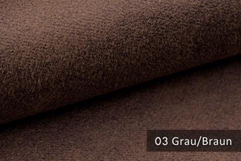 novely® MALOU Möbelstoff, samtweicher Velours in Vintage-Leder-Optik | Farbe 03 Grau-Braun