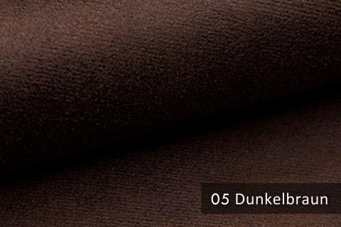 novely® MALOU Möbelstoff, samtweicher Velours in Vintage-Leder-Optik | Farbe 05 Dunkelbraun