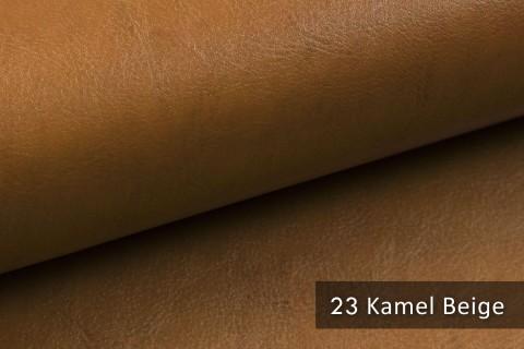 novely® MARGOTH – Glattes glänzendes Kunstleder im Antik-Look | 23 Camel-Beige