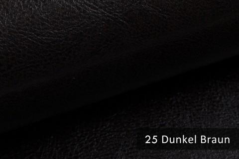 novely® MARGOTH – Glattes glänzendes Kunstleder im Antik-Look | 25 Dunkel-Braun