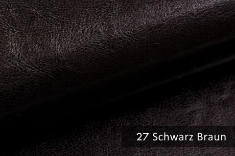 novely® MARGOTH – Glattes glänzendes Kunstleder im Antik-Look | 27 Schwarz-Braun