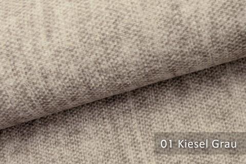 novely® MARLOW Möbelstoff, Velours, samtig weicher Polsterstoff | 01 Kiesel Grau